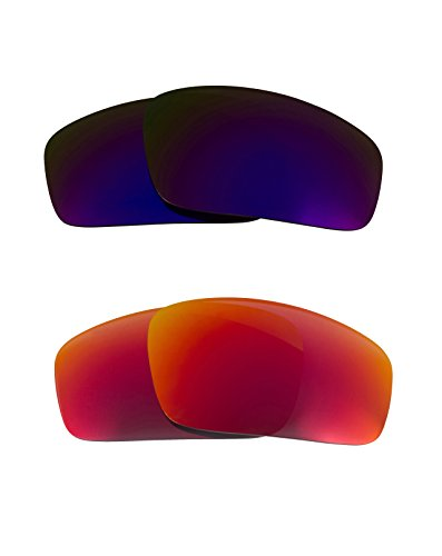 New SEEK OPTICS Replacement Lenses for Oakley MONSTER PUP - Polarized Purple & Red Mirror