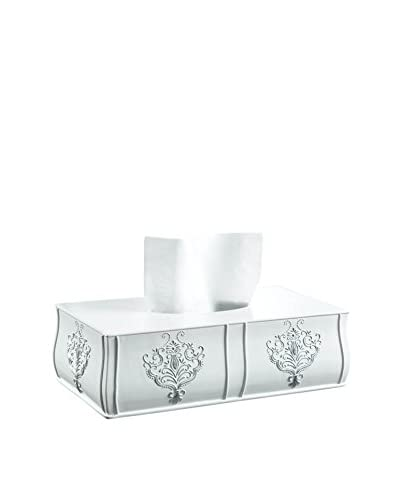 Creative Scents Vintage-Inspired Rectangular Tissue Box, White