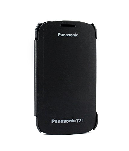 Stromax Flip Cover For Panasonic T31 -black  available at amazon for Rs.149