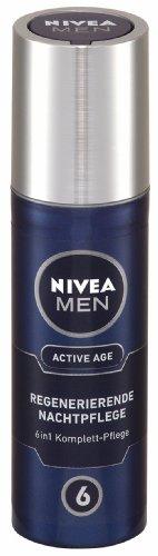 Nivea Men Active Age, Regenerierende Nachtpflege Gesichtspflege, 3er Pack (3 x 50 ml)