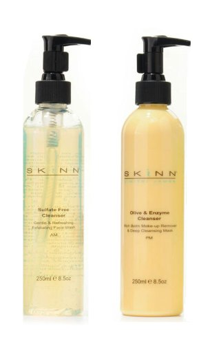 Skinn Cosmetics SUPERSIZE Cleansing System - 8.5 oz one EACH AM and PM Cleansers
