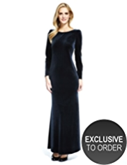 M&S Collection Velour Maxi Dress