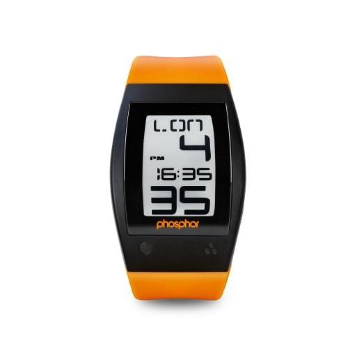 [フォスファー]PHOSPHOR 腕時計 E ink 電子ペーパーウォッチ World Time Sport Orange WP003 【正規輸入品】