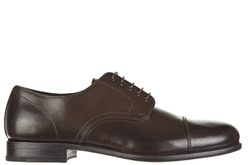 Prada scarpe stringate classiche uomo in pelle nuove derby michigan marrone EU 40.5 2EB1343 B7R F0003