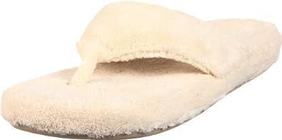 ACORN Women's New Spa Thong Slipper,Small,Natural