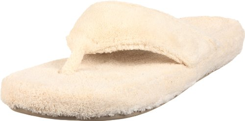 ACORN Women's New Spa Thong Slipper Natural,Large 8-9 M US