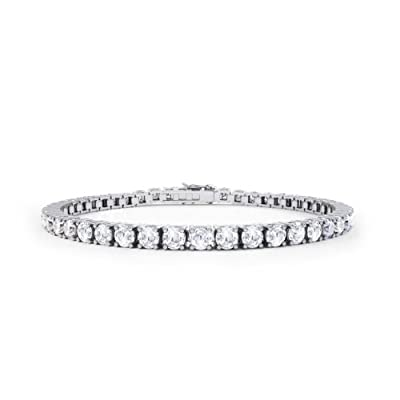 Stardust Diamond Silver Tennis Bracelet (WHITE GOLD)