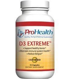 Pro Health, Vitamin D3 ExtremeTM 50000 IU, 24 capsules
