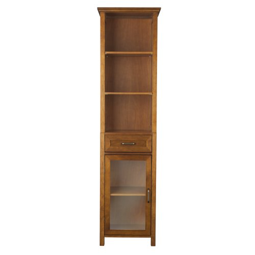 Elegant Home Fashion Anna Linen Cabinet with Drawer and 3-Shelf (Linen Cabinet Corner compare prices)