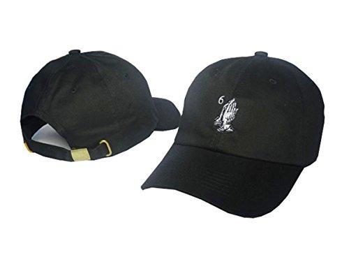 Drake 6 Unisex Cotton Hats Adjustable Peaked Cap Black One Size