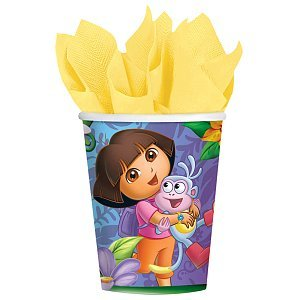 Amscan Quirky Dora's Flower Adventure Party Paper Cups (8 Piece), Multi - 1