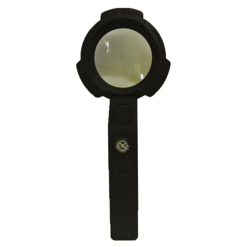 6 x Magnification 65mm Hand-held Hand Held LED Light Magnifier Magnifying Loupe Glass with a Compass