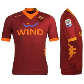 Amazon.com: Kappa A.S. Roma Authentic Soccer Jersey (Home 2011/12) XL