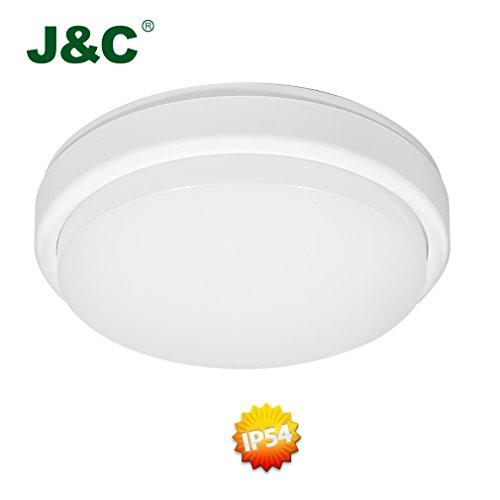 JC-2-Jahre-Garantie-LED-Kellerleuchte-238-18W-1300LM-PC-Rund-Nassraum-IP54-Badleuchte-Nassraum-Neutralwei-4000-4500K-90-Sparen