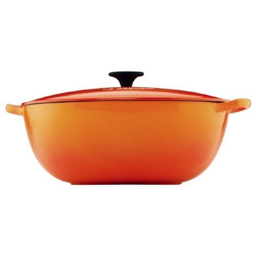 Le Creuset Enameled Cast-Iron 7-1/2-Quart Bouillabaisse Pot, Flame
