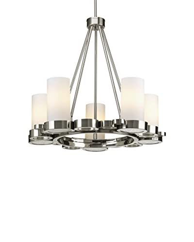 Progress Lighting Bingo Chandelier, Brushed Nickel