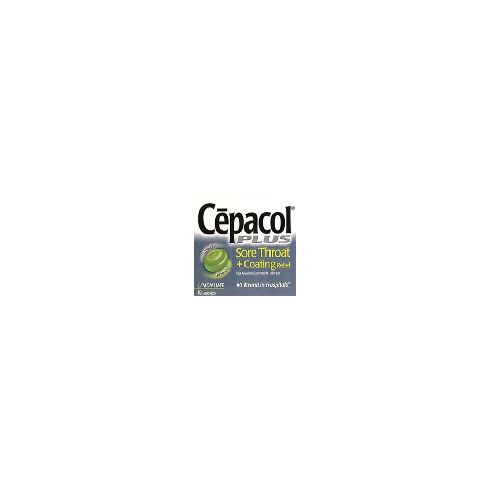 Cepacol Sore Throat and Coating Relief Lozenges, Lemon Lime