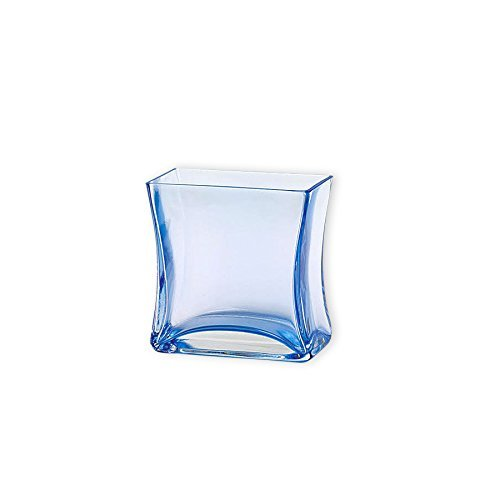 Flower Glass Vase Decorative Centerpiece For Home or Wedding by Royal Imports - Small Rectangle Shape, 4