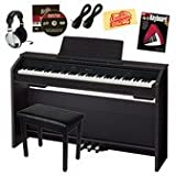 Casio Privia PX-850 Digital Piano Bundle with Gearlux Furniture-Style Bench, Casio Triple Pedal Board, Casio AC Adapter, Austin Bazaar Instructional DVD, Hal Leonard Instructional Book, Headphones, Two Gearlux Instrument Cables, and Austin Bazaar Polishing Cloth - Black