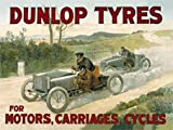 Dunlop Tyres - For Motors, Carriages and Cycles - Large Metal Sign