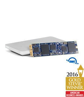 OWC 1.0TB Aura SSD Flash Internal Drive Upgrade Kit for Mid-2013 and Later MacBook Air and Mid 2013-Mid 2015 MacBook Pro with Retina display (Color: Silver, Blue, Tamaño: 1 TB)