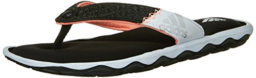 Adidas Performance Women's Anyanda Flex W Athletic Sandal,Black/White/Silver,8 M US