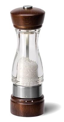 Cole and Mason Keswick Precision Gourmet 7-Inch Salt Mill Dark Wood and Acrylic