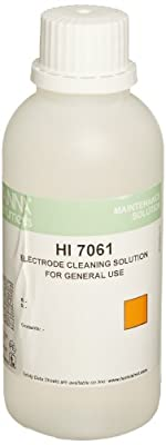 Hanna Instruments HI 7061M Electrode Cleaning Solution, 230mL Bottle