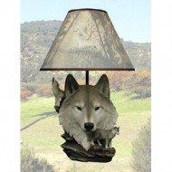 Moon Call Wolf Figurine Lamp