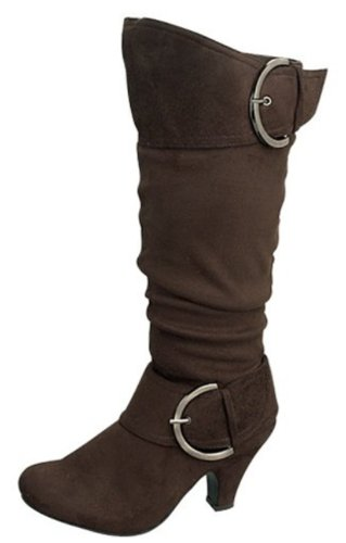 Top Moda Mid-calf Slouch Boots with Zipper Closure Tmauto-08 Black, Brown or Grey