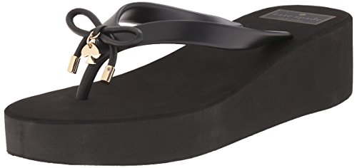 Kate Spade New York Women's Rhett Wedge Flip Flops,Solid Black,10 M US (Inc Bow Flip Flops compare prices)
