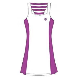 K-SWISS Game II Ladies Dress, White/Purple, M