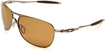 Oakley Mens Crosshair OO4060-04 Polarized Oval Sunglasses,Brown Chrome Frame/Bronze Polarized Lens,one size