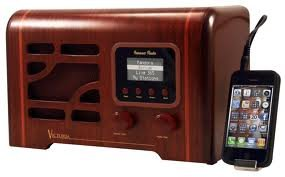 Grace Digital Victoria Wireless Internet Radio Featuring Pandora, NPR, SiriusXM and Rhapsody, Connect to Any Home Stereo System with Powerful Bass Ported Full Range Speaker, Includes a High Contrast LCD Display and Features a 3.5mm which Connects to all Your Audio Sources, BONUS Includes Remote Control iPhone App, Walnut