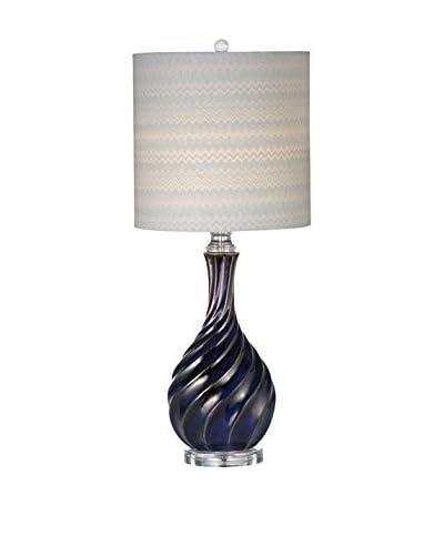 Bassett Mirror Company Tiburon Table Lamp, Navy Blue