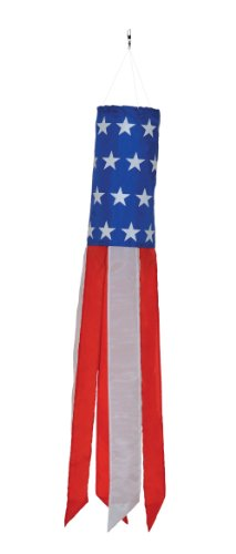 In the Breeze Stars and Stripes Value Sock/Windsock, 33-Inch
