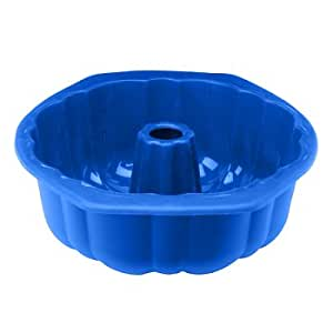 Silicone Solutions 12 Cup Fluted Tube Pan, Blue
