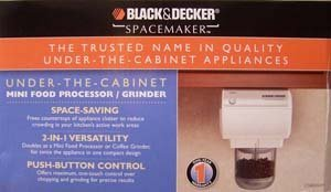 Black and Decker Spacemaker Chopper and Grinder - White