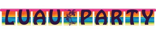 Creative Converting Large Jointed Party Banner, Luau Aloha Summer - 1