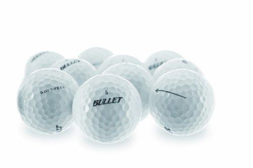 Bullet Soft - Feel 15er Pack weiße High Performance 2 Piece Titanium Balls Golfbälle WEISS