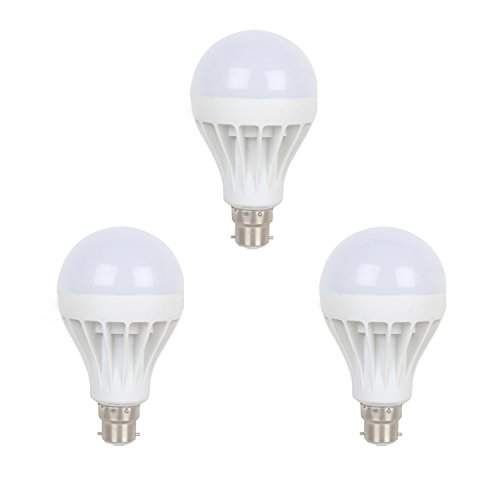 Earton 3W LED Bulb (White, Pack of 3)