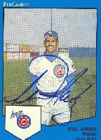 Mike Harkey Iowa Cubs - Cubs Affiliate 1989 Pro Cards Autographed Hand Signed Trading... by Hall+of+Fame+Memorabilia