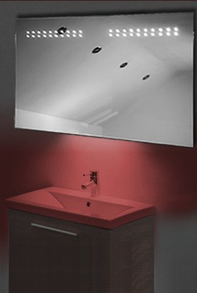 Ambient Shaver Led Bathroom Illuminated Mirror With Demister Pad & Sensor K14Sr
