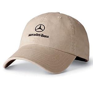 Mercedes benz khaki twill baseball cap for Mercedes benz baseball caps