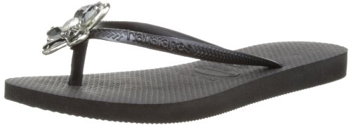 Havaianas Women's Luxury Black Flip Flops 4123208.0090.390 7/8 UK