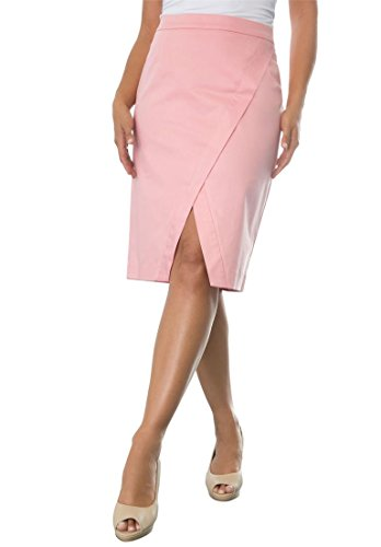 Jessica London Womens Plus Size Overlay Pencil Skirt Pink Sorbet,24