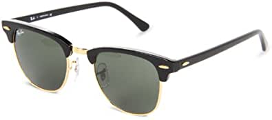 Ray-Ban RB3016 Clubmaster Icons Lifestyle Sunglasses/Eyewear - Ebony/Arista/G-15 XLT / Size 49mm