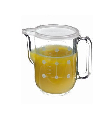 Bormioli Rocco Frigoverre Measure Pitcher With Lid, 34-Ounce