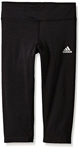 adidas Big Girls' Capri Pants, Black, Medium