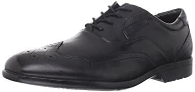 乐步 Rockport Men's Business Lite Wing Tip 男士真皮商务鞋黑$66.64未更新
